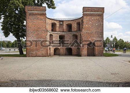 "Stock Photo of ""The Zingel building, Neubrandenburg, Mecklenburg."
