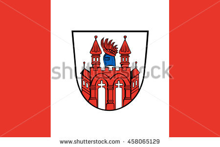 Flag Of Neubrandenburg Is A City In The Southeast Of Mecklenburg.