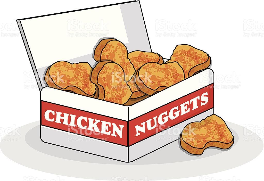 Chicken nuggets clip art.