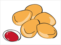 Fish Nuggets Clipart.