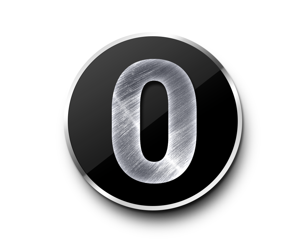 Number 0 PNG Transparent Clipart Image #6.