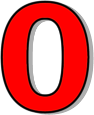 number 0 red.