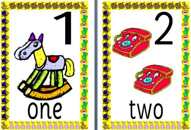 Common Worksheets » Clipart Numbers 1.