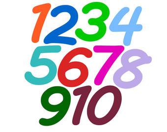 Free Clip Art Numbers 1.