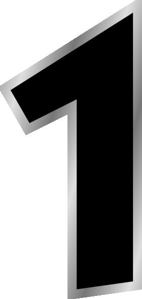 Number 1 Black Clip Art at Clker.com.