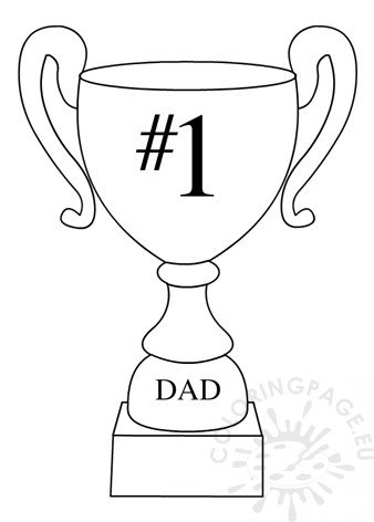 Number One Dad Trophy printable.