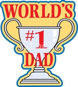 Number One Dad Heading C premium clipart.