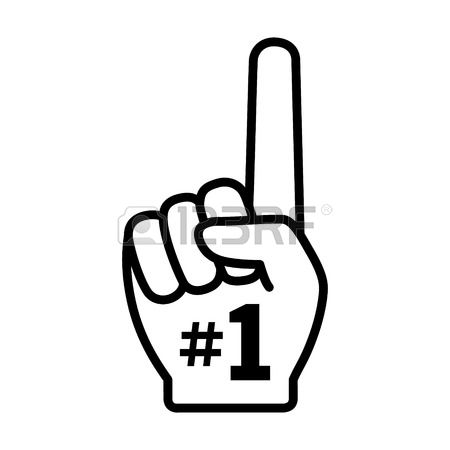 Number 1 Finger Clipart.