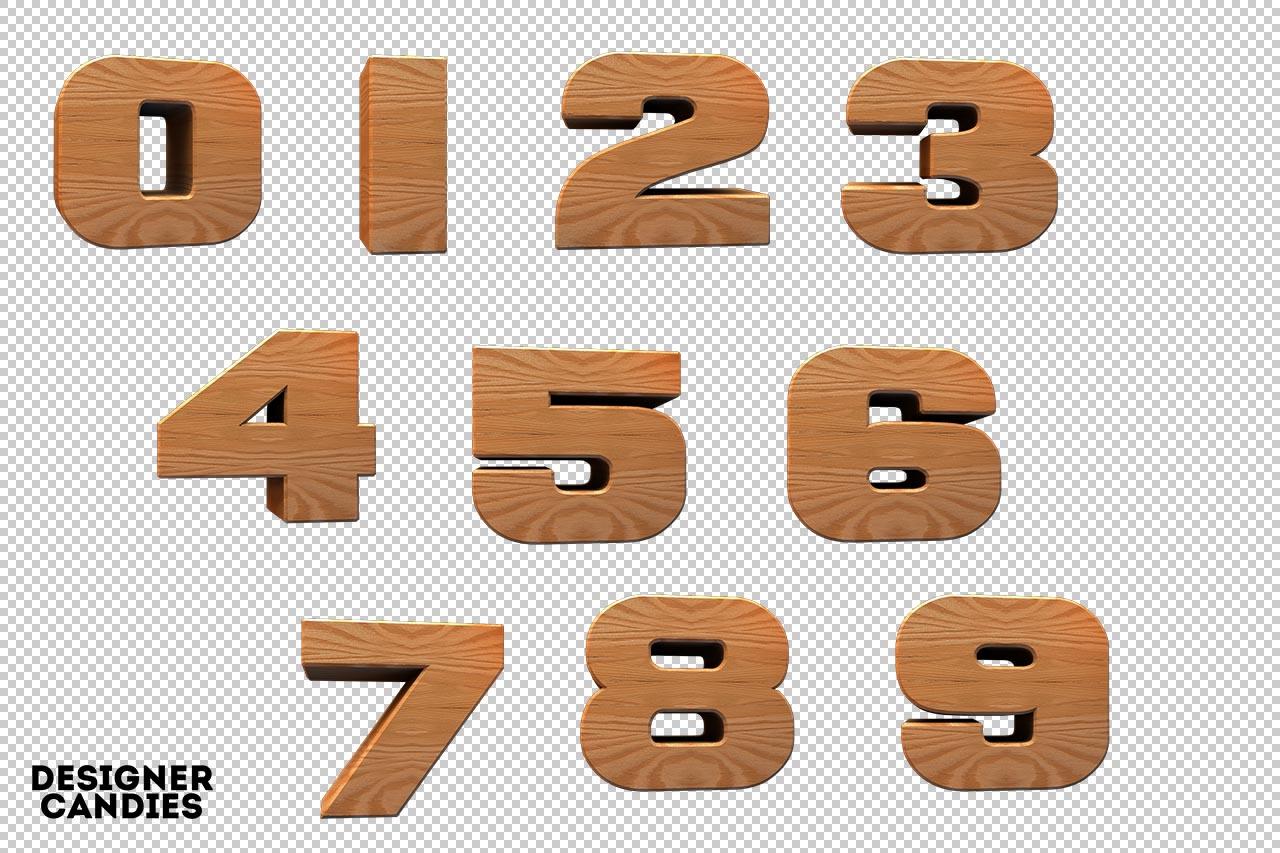 3D Wooden Lettering Pack.