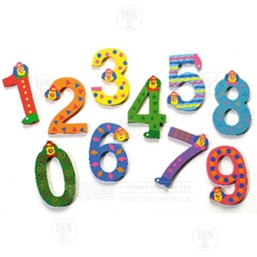 Wooden Clown Number NEW Personalised Numbers £2.95 Flat Rate P&.