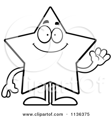 Character Black And White Clipart.