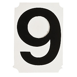 BRADY Number Label, 6, Black, 1.