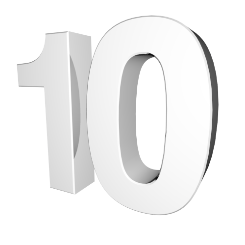 Number 10 Character Clipart Black And White