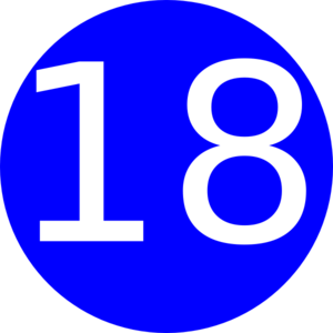 Number 18 Blue Background Clip Art at Clker.com.