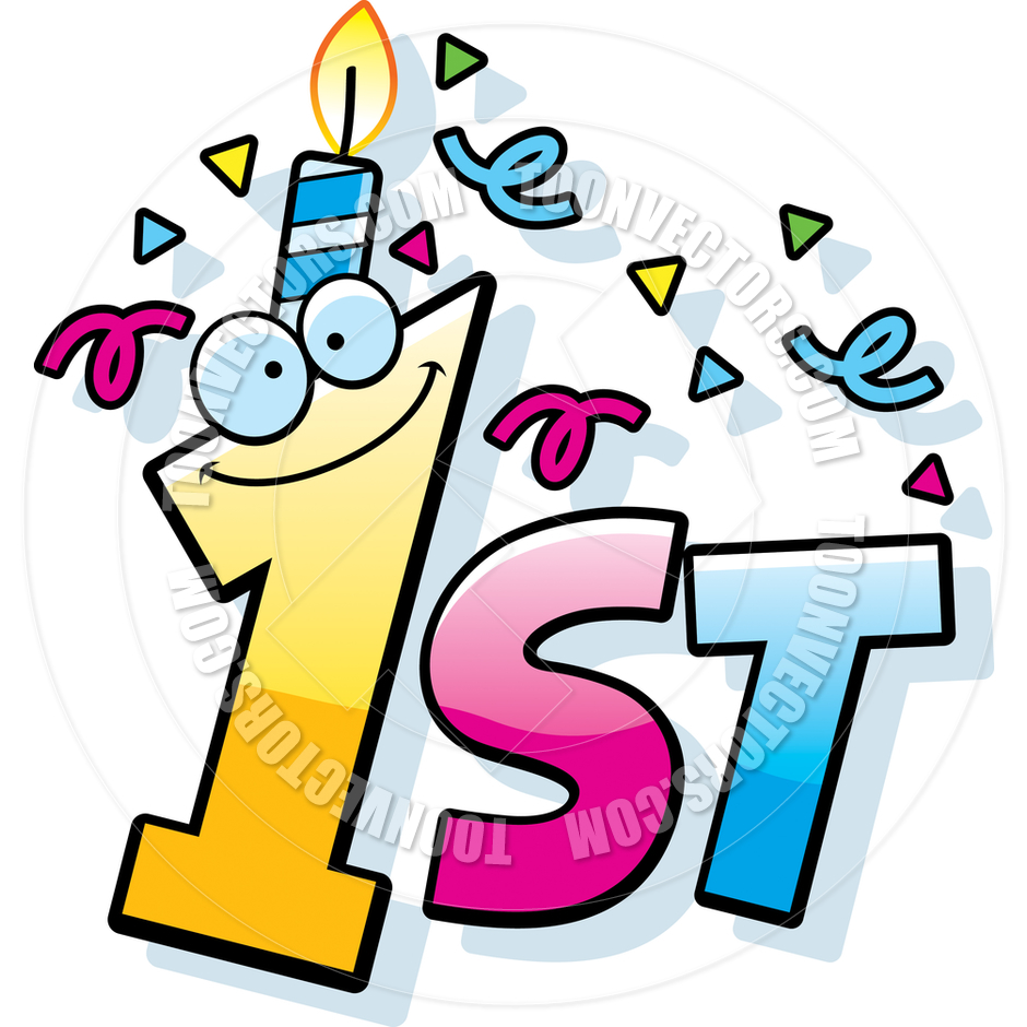 1st Birthday Number Clipart.