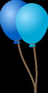Emmas Blue Balloons Clip Art at Clker.com.