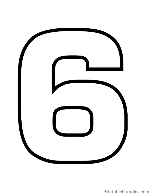 Printable Bubble Number 2 Outline.