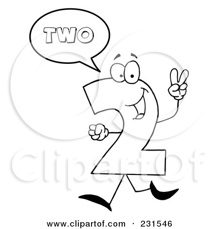 Number 2 Outline Clipart