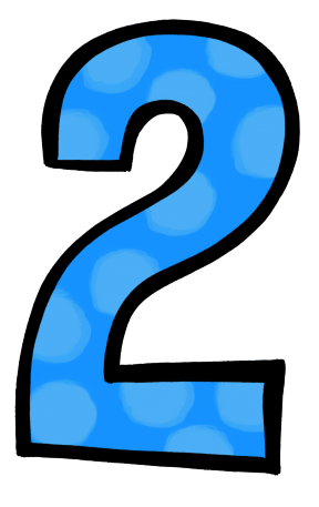 number 2 with dots clipart - Clipground