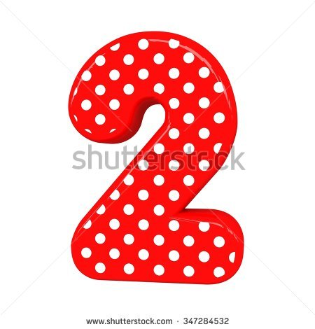 number 2 with dots clipart clipground
