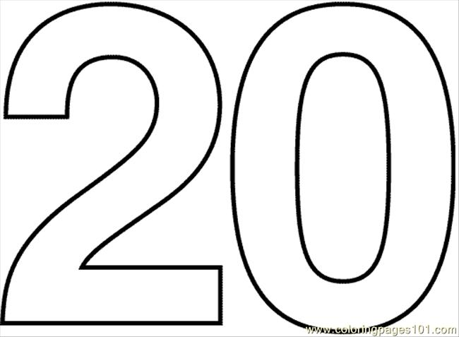 Numbers 1 20 Clipart.