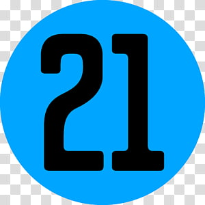 21 Number transparent background PNG cliparts free download.