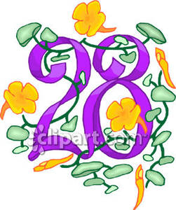 Number 28 clipart 6 » Clipart Station.