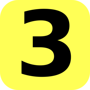 Yellow Rounded Number 3 Clip Art at Clker.com.