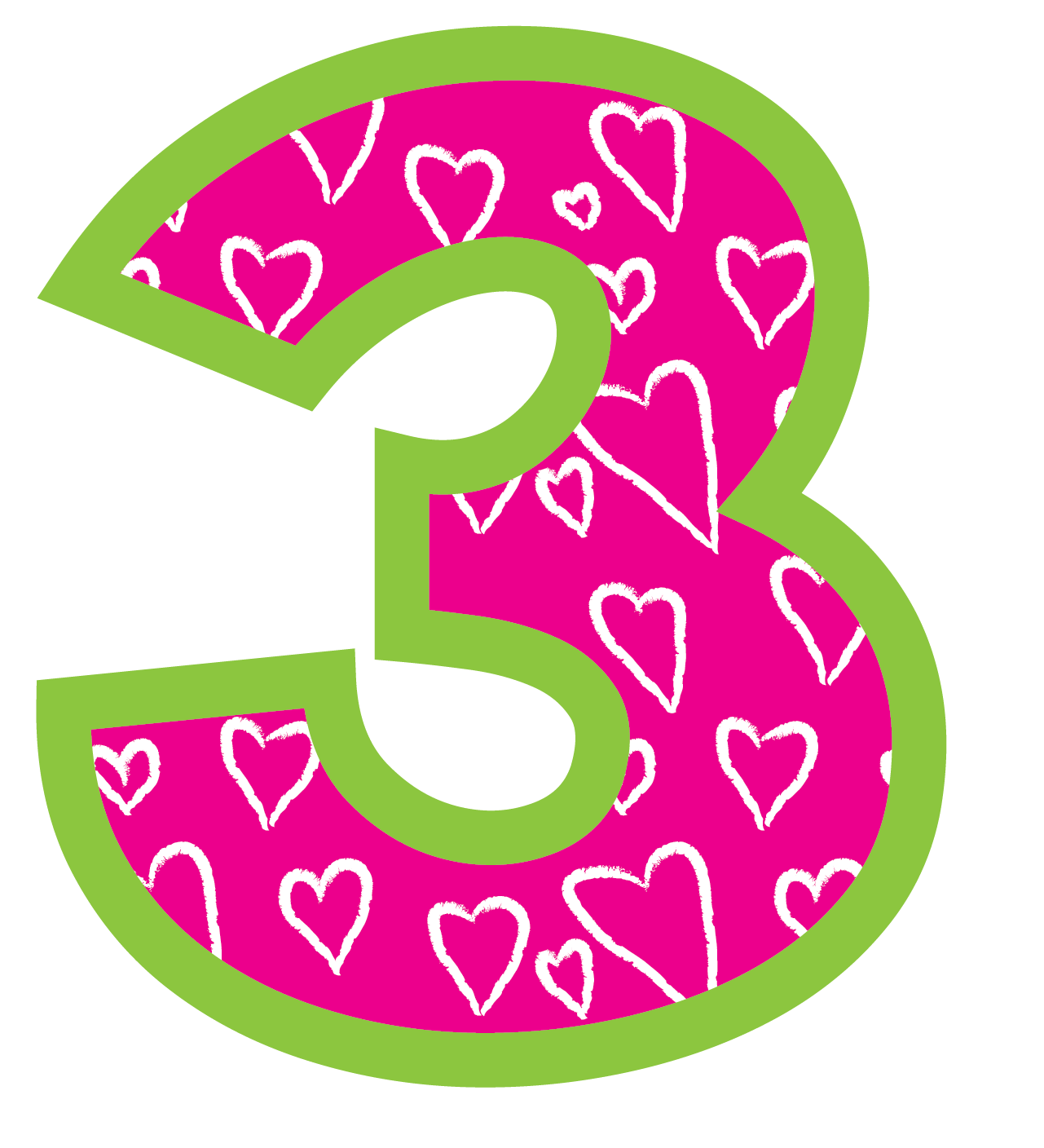 Birthday Number 3 Clipart.