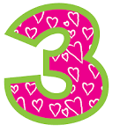 Number 3 clipart png.