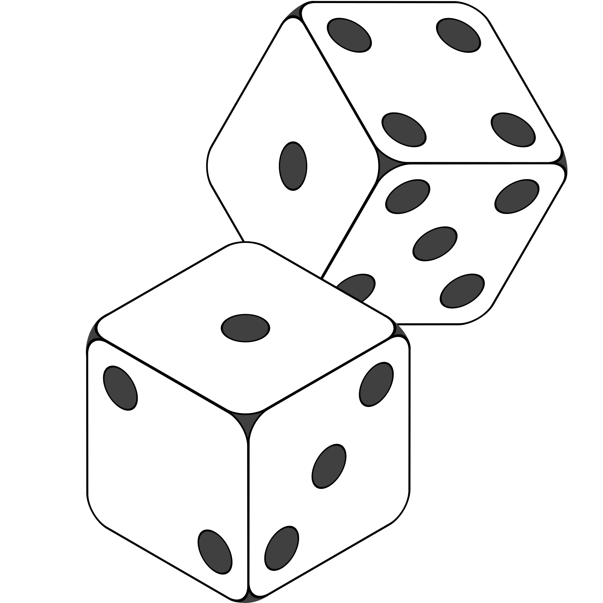 Number 3 Dice Clipart Black And White Clipground