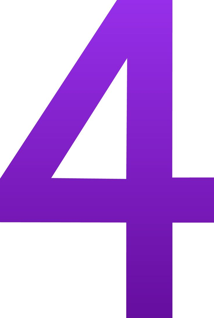 Number 4 Clipart Purple.