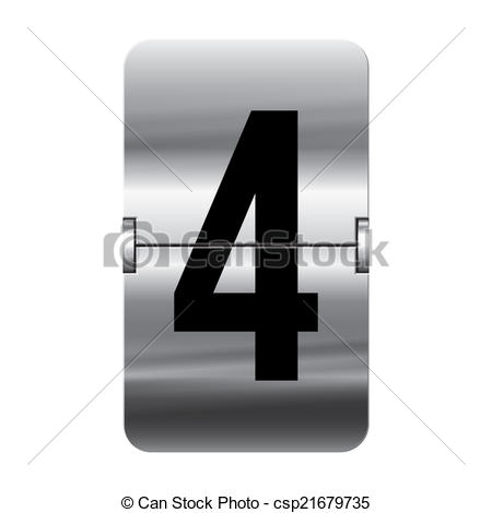 Vectors of Silver flipboard number.