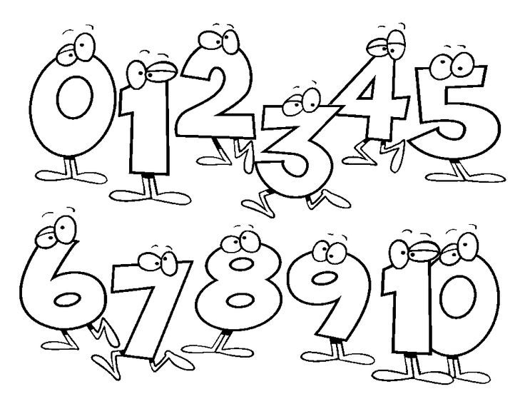 number 4 coloring sheets clipart black and white #7