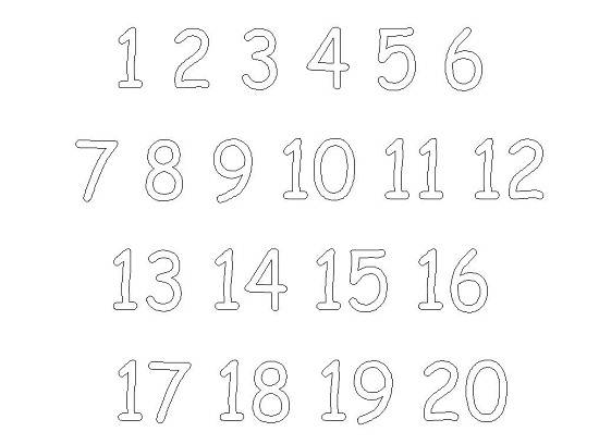 Number Coloring Pages Numbers 1