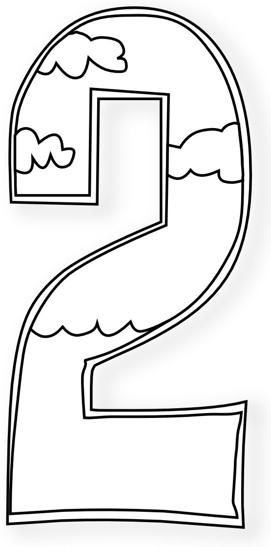 number 4 coloring sheets clipart black and white #15