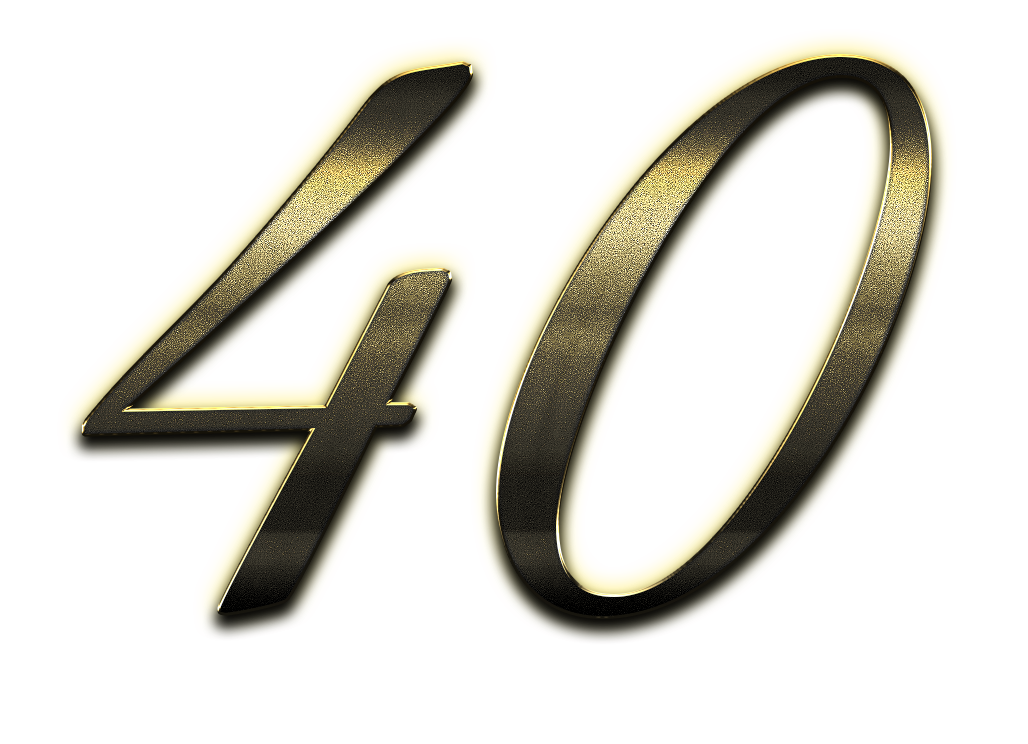 40 Number Clipart PNG.