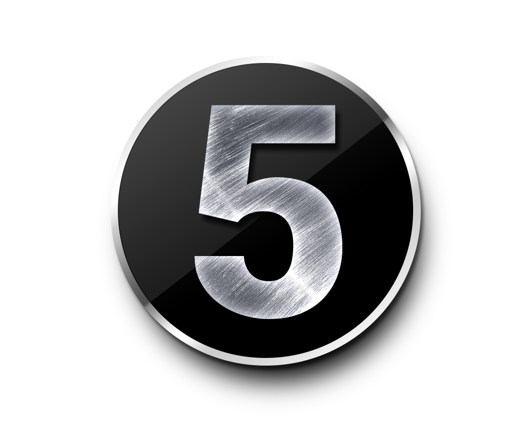 Number 5 PNG Transparent Clipart Image Free #5.