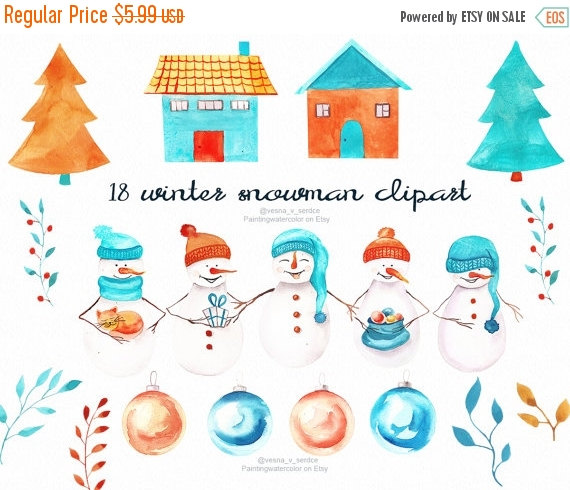 number 5 winter clipart #11