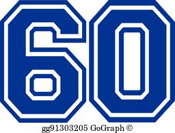 Number 60 Clip Art.