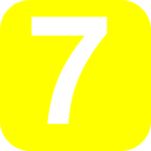 Number 7 Yellow Clip Art at Clker.com.
