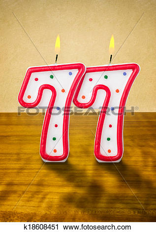 Clipart of Burning birthday candles number 77 k18608451.