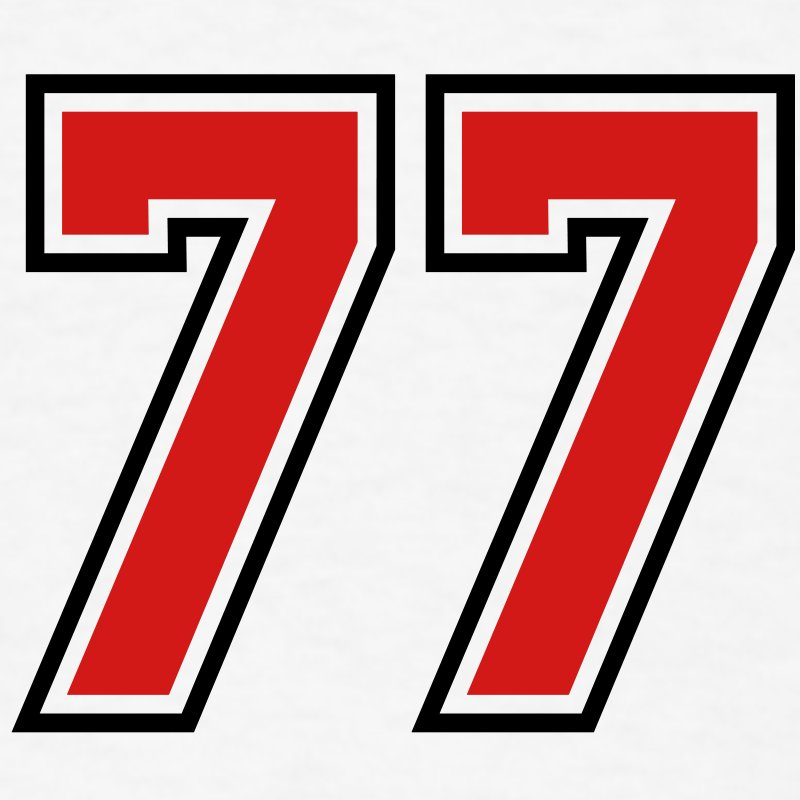 77 sports jersey football number T.