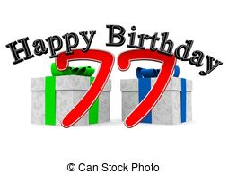 The big red number 77 with happy birthday Stock Illustrations. 5.