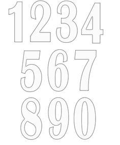 Printable Block Letters and Numbers for Scrapbooking and.