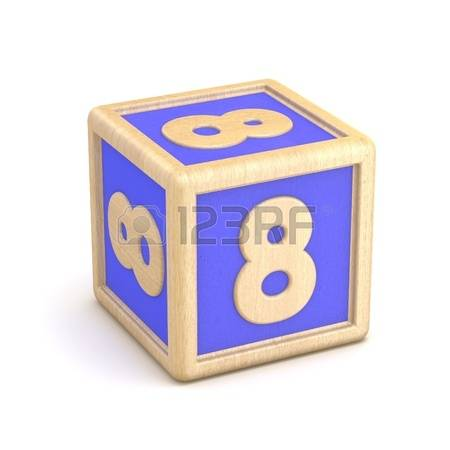 Number 8 Block Style Clipart.
