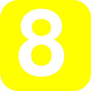 Number 8 Yellow Clip Art at Clker.com.