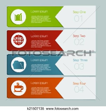Clipart of Infographic. Design number banners template graphic or.