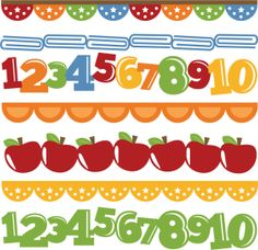 Number Border Clipart.