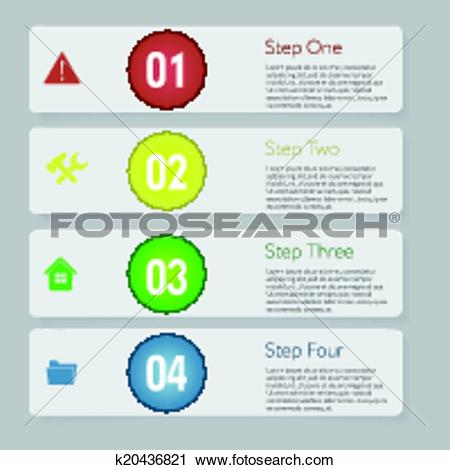 Clipart of Design number banners template graphic or website.